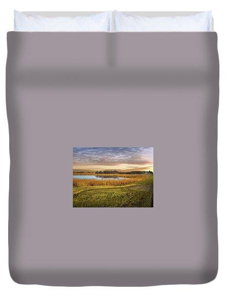 Farmland Pond Duvet Cover