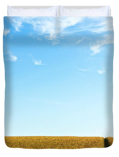 Farmland To The Horizon 1 Duvet Cover by Heiko Koehrer-Wagner