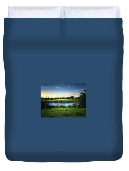 Farmland Waters Duvet Cover