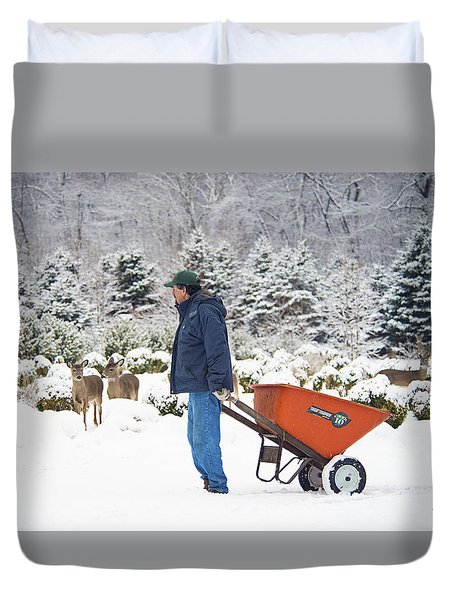 Duvet Cover featuring the photograph Farmlife by Angel Cher