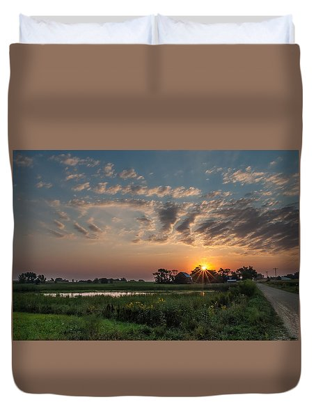Farmstead Sunrise Duvet Cover