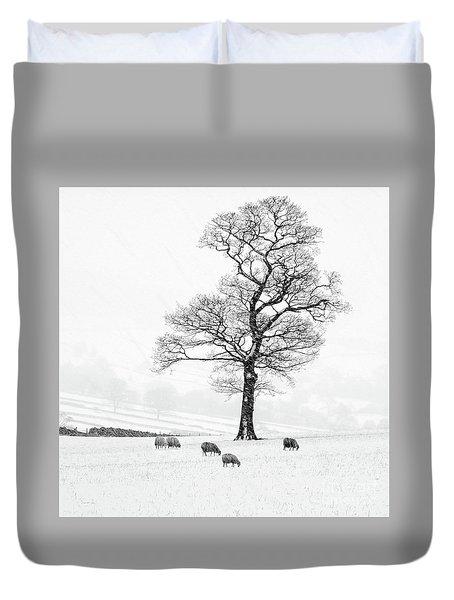 Farndale Winter Duvet Cover by Janet Burdon