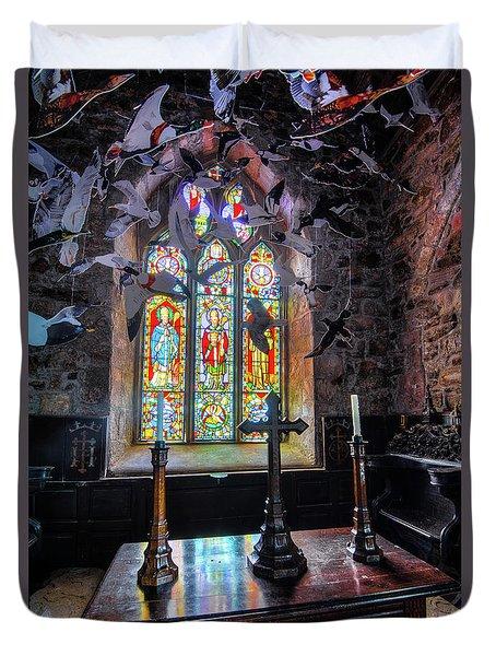 Farne Island Church Duvet Cover