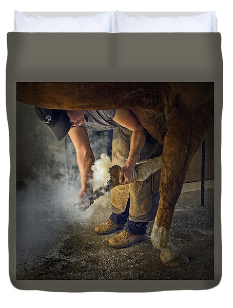 Farrier Visit - 365-46 Duvet Cover