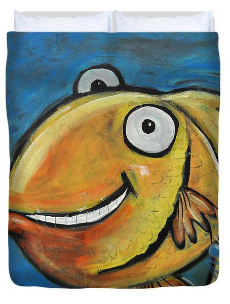 Farting Fish Duvet Cover