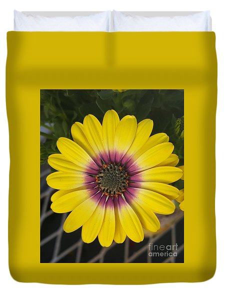 Fascinating Yellow Flower Duvet Cover