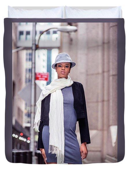 Fashion Girl Duvet Cover