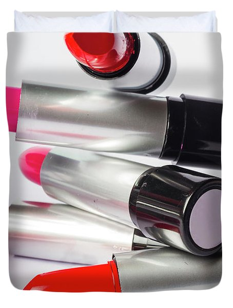 Fashion Model Lipstick Duvet Cover