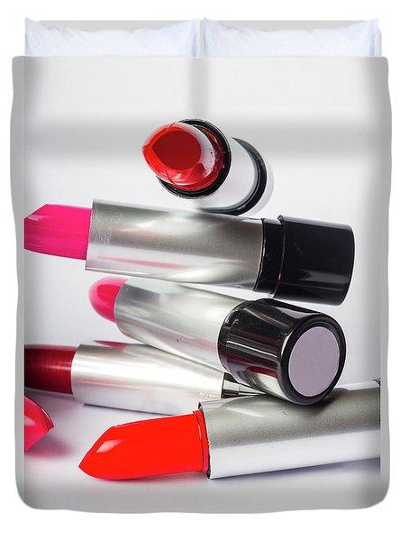 Fashion Model Lipstick Duvet Cover