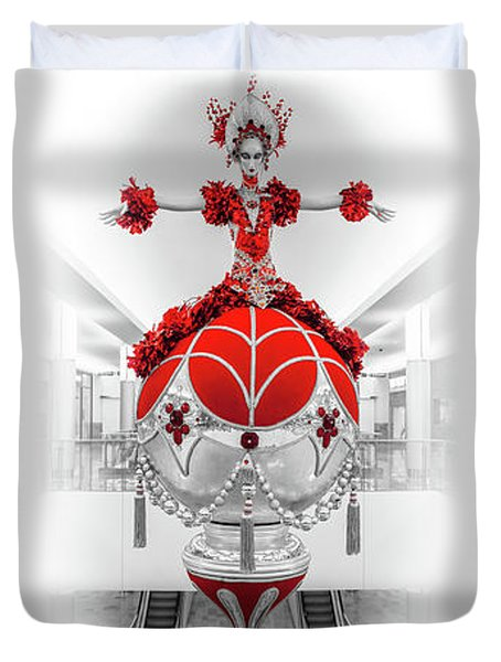 Fashion Show Christmas Ornament Collection Duvet Cover