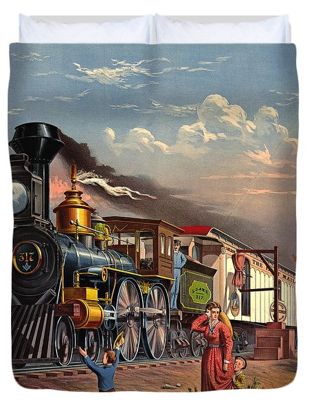 Fast Mail 1875 Duvet Cover by Padre Art