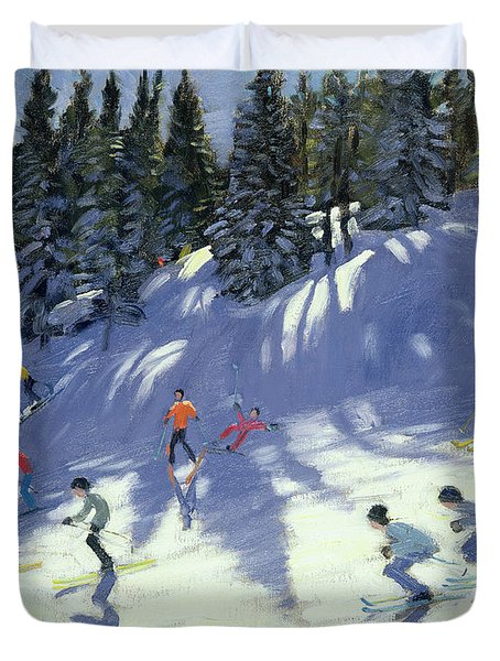 Fast Run Duvet Cover by Andrew Macara