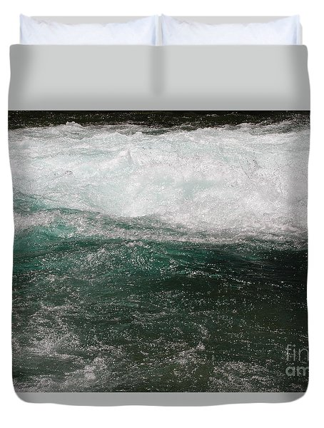 Fast Water Duvet Cover by Edward R Wisell