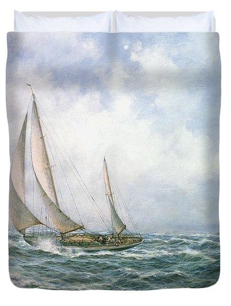 Fastnet Abeam Duvet Cover by Richard Willis