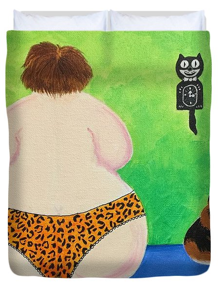 Fat Cats Duvet Cover