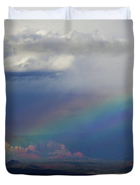 Fat Rainbow, Sedona Az Duvet Cover