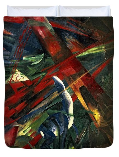 Fate Of The Animals Duvet Cover by Franz Marc