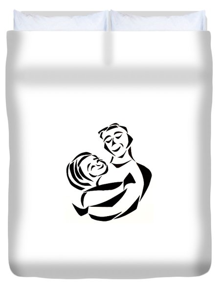 Father And Child Duvet Cover by Delin Colon