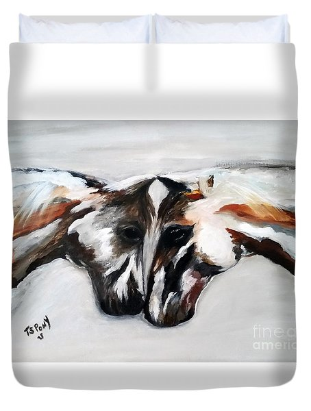 Father And Daughter - Find All The Animals Inside Duvet Cover