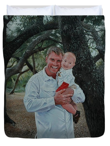 Father And Son Duvet Cover by Michael Nowak