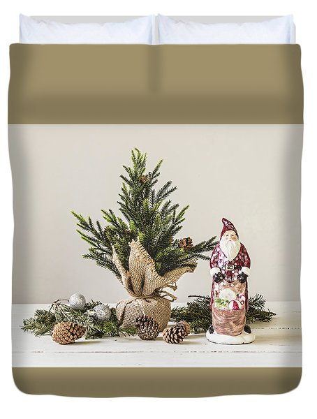 Duvet Cover featuring the photograph Father Christmas by Kim Hojnacki