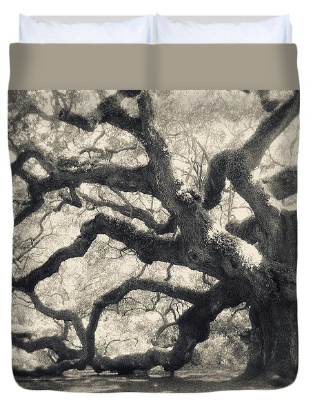 Duvet Cover featuring the photograph Father Time by Amy Tyler