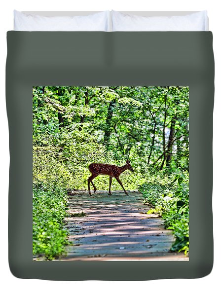 Duvet Cover featuring the photograph Fauntastic by Anthony Baatz