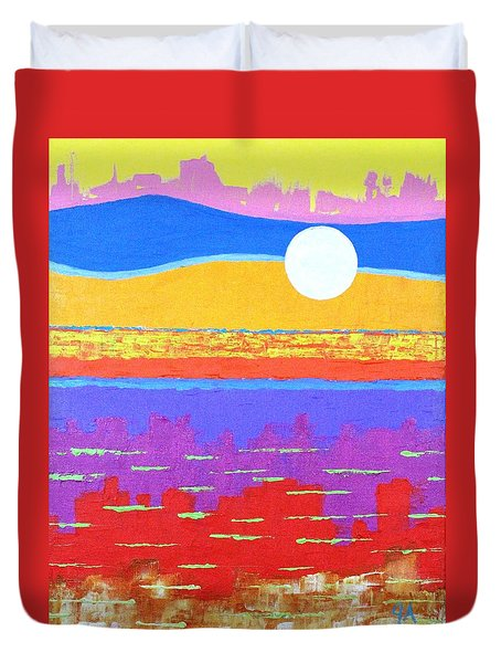 Fauvist Sunset Duvet Cover