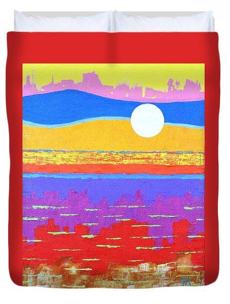 Fauvist Sunset Duvet Cover