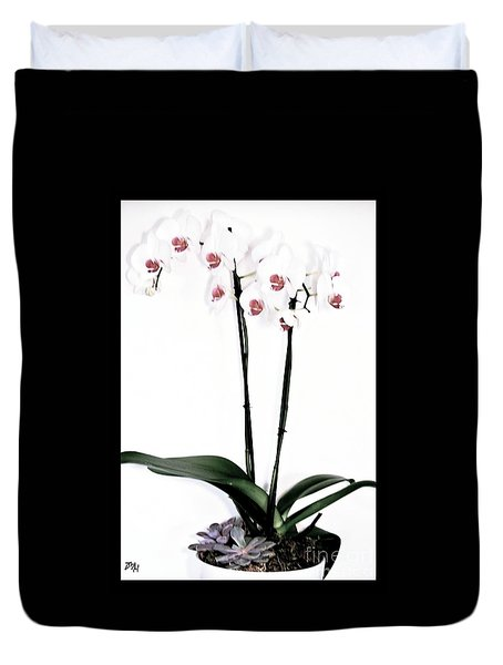 Favorite Gift Of Orchids Duvet Cover by Marsha Heiken
