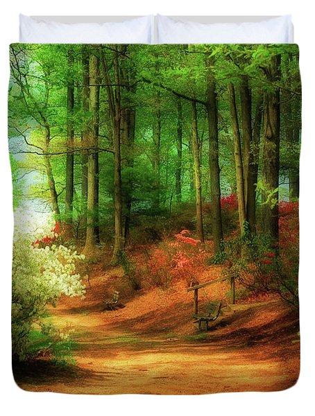 Favorite Path Duvet Cover by Lois Bryan