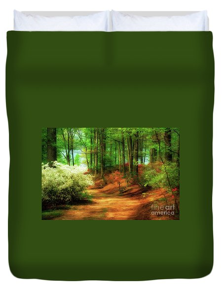 Favorite Path Duvet Cover by Lois Bryan