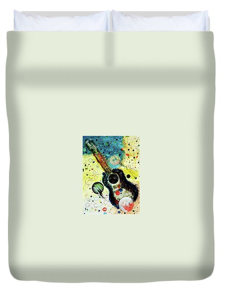Duvet Cover featuring the mixed media Favorites by Michael Lucarelli