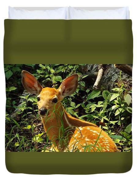Fawn In The Woods 2 Duvet Cover