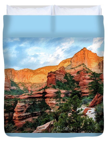 Fay Canyon 07-053 Duvet Cover by Scott McAllister