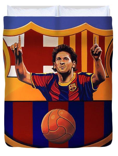 Fc Barcelona Painting Duvet Cover