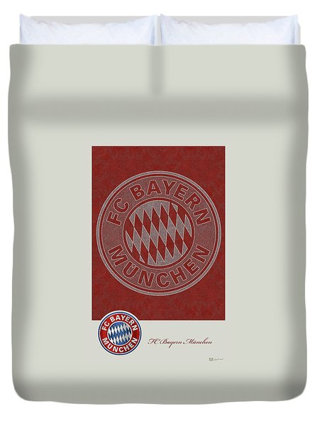 Fc Bayern Munich Logo And 3d Badge Duvet Cover