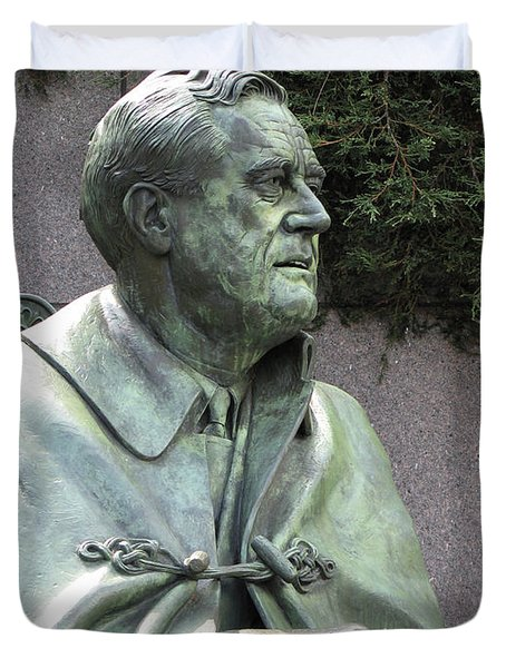 Fdr Statue At His Memorial In Washington Dc Duvet Cover