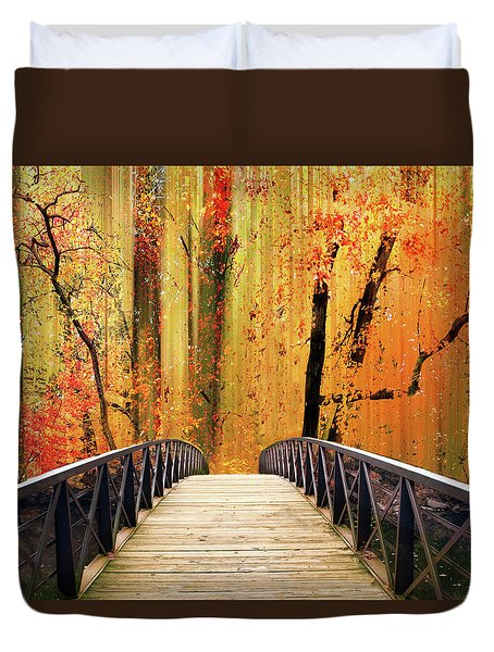 Duvet Cover featuring the photograph Forest Fantasia by Jessica Jenney