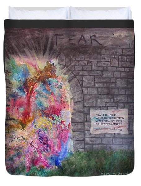 Fear Is The Prison... Duvet Cover