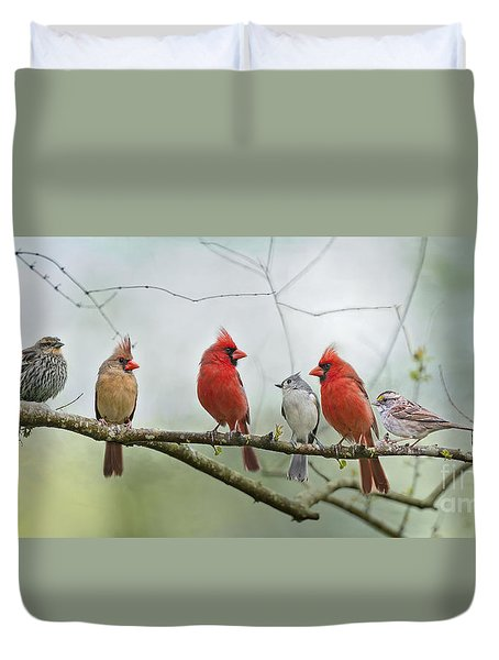 Fear Not Little Flock Duvet Cover by Bonnie Barry