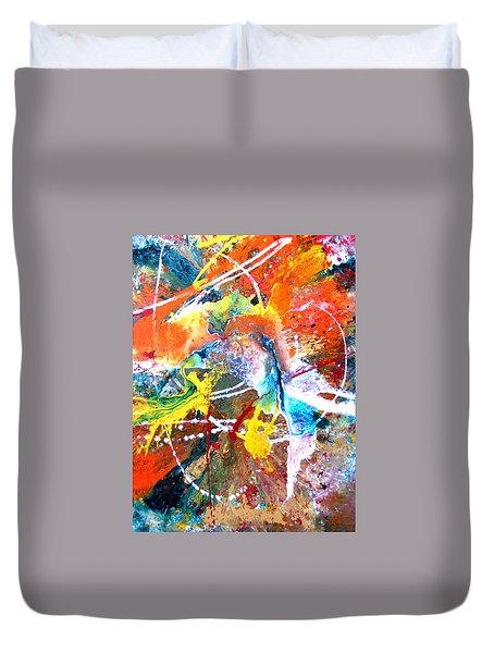 Fear Of Flying Duvet Cover by Pearlie Taylor