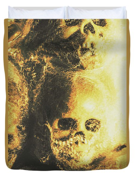 Fear Of The Capture Duvet Cover