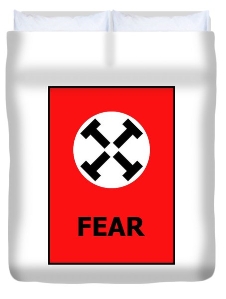 Fear Duvet Cover by Richard Reeve