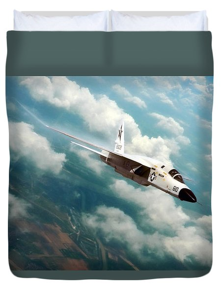 Fearless Ra-5c Vigilante Duvet Cover by Peter Chilelli