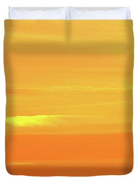 Feather Cloud In An Orange Sky  Duvet Cover