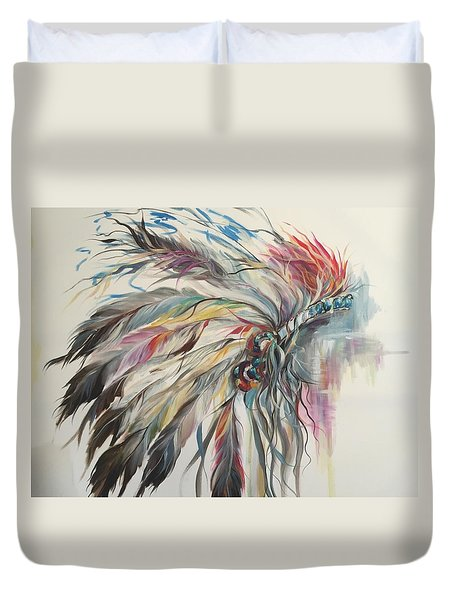 Feather Hawk Duvet Cover