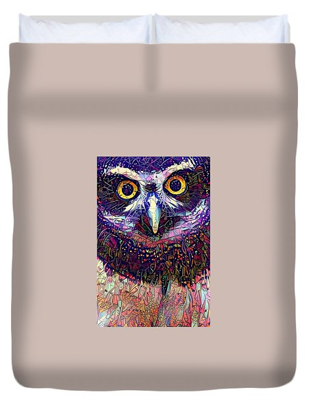 Feather Jeweled Duvet Cover