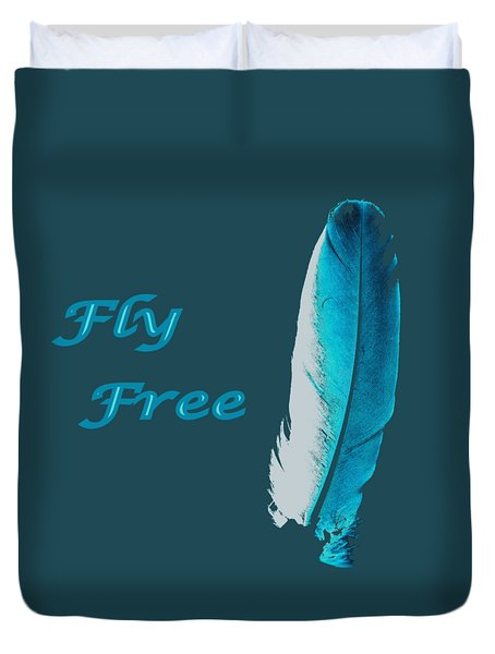 Feather Of Free Flight Duvet Cover