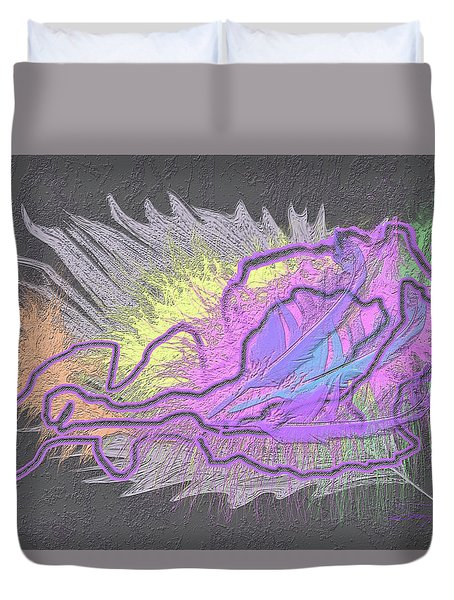 Feathered Daydreams Duvet Cover